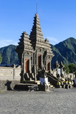 Hindu Temple Complex, Mount Bromo, Bromo Tengger Semeru National Park, Java, Indonesia Photographic Print by Michael Runkel