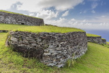One of 53 Stone Masonry Houses at Orongo Photographic Print by Michael Nolan