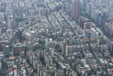 View over Taipei from the 101 Tower, Taipei, Taiwan, Asia Photographic Print by Michael Runkel