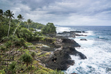 Wild Rocky Coast of Upolu, Samoa, South Pacific, Pacific Photographic Print by Michael Runkel