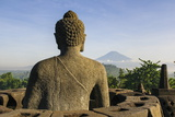Sitting Buddha in the Temple Complex of Borobodur, Java, Indonesia, Southeast Asia, Asia Photographic Print by Michael Runkel