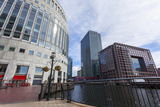 Shopping, Restaurants and Cafes around the Middle Dock, Canary Wharf, Docklands, London, England Photographic Print by Charlie Harding