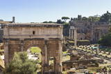Elevated View from Behind the Capitol of the Arch of Septimius Severus in the Forum, Rome, Lazio Photographic Print by Eleanor Scriven