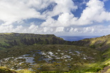 Orongo Crater, Rano Kau, Rapa Nui National Park Photographic Print by Michael Nolan