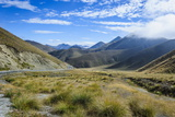 Beautiful Scenery on the Highway around the Lindis Pass, Otago, South Island, New Zealand, Pacific Photographic Print by Michael Runkel
