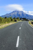 Road Leading to Mount Taranaki, North Island, New Zealand, Pacific Photographic Print by Michael Runkel
