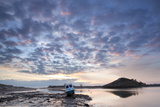 Church Hill and the Aln Estuary During a Stunning Winter Sunrise from the Beach at Low Tide Photographic Print by Lee Frost