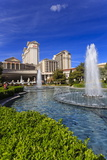 Green Space at Caesars, Garden and Fountains at Caesars Palace Hotel, Las Vegas, Nevada, Usa Photographic Print by Eleanor Scriven