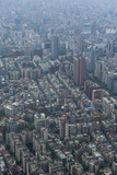 View over Taipeh from the 101 Tower, Taipeh, Taiwan, Asia Photographic Print by Michael Runkel