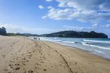 Long Sandy Hot Water Beach, Coromandel Coast, North Island, New Zealand, Pacific Photographic Print by Michael Runkel