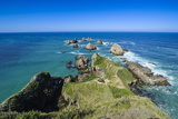 View from the Nugget Point Lighthouse in the Turquoise Waters with Huge Rocks Photographic Print by Michael Runkel