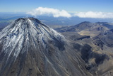 Aerial of Mount Ngauruhoe, Tongariro National Park, North Island, New Zealand, Pacific Photographic Print by Michael Runkel