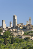 View across Field to Typical Houses and Medieval Towers, San Gimignano, Siena Photographic Print by Ruth Tomlinson