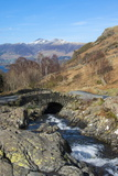 Ashness Bridge Overlooking Lake Derwentwater and Skiddaw, Keswick, Northern Lakes Photographic Print by James Emmerson