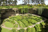 Victorian Terraced Gardens in Umpherston Sinkhole in Limestone, Mount Gambier, South Australia Photographic Print by Tony Waltham