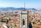 Campanile of Giotto and City View from the Top of the Duomo, Florence (Firenze), Tuscany Photographic Print by Nico Tondini