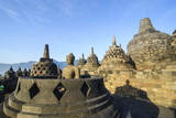 Early Morning Light at the Temple Complex of Borobodur, Java, Indonesia, Southeast Asia, Asia Photographic Print by Michael Runkel