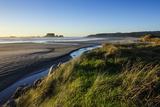 Sunset at Cape Foulwind Near Westport, West Coast, South Island, New Zealand, Pacific Reproduction photographique par Michael Runkel