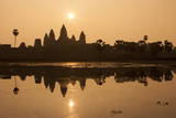 Angkor Wat at Sunrise, Angkor Wat Temple Complex UNESCO World Heritage Site, Angkor Photographic Print by Stephen Studd