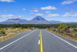 Road Leading to Mount Ngauruhoe, Tongariro National Park, North Island, New Zealand, Pacific Photographic Print by Michael Runkel