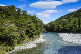 Beautiful Haast River, Haast Pass, South Island, New Zealand, Pacific Photographic Print by Michael Runkel