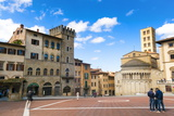 Piazza Vasari (Piazza Grande), Arezzo, Tuscany, Italy, Europe Photographic Print by Nico Tondini