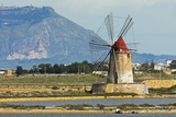 Windmill on Stagnone Lagoon in the Salt Pan Area South of Trapani Photographic Print by Rob Francis