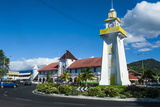 Clock Tower in Downtown Apia, Upolu, Samoa, South Pacific, Pacific Photographic Print by Michael Runkel