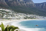 Overview of Clifton Beach with Homes and Mountains in the Bay, Cape Peninsula, Cape Town Photographic Print by Kimberly Walker