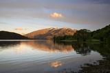 Sunrise over Glendhu Bay on Lake Wanaka and Mount Aspiring, Wanaka, Otago Photographic Print by Stuart Black