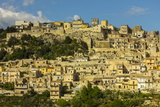Buildings in Steep Gorge at Modica, a Town Famed for its Baroque Architecture, Modica Photographic Print by Rob Francis