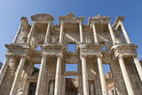 Facade of the Library of Celsus, Roman Ruins of Ancient Ephesus, Near Kusadasi Photographic Print by Eleanor Scriven