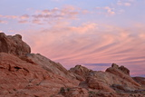 Clouds at Dawn over Sandstone Formations, Valley of Fire State Park, Nevada, Usa Photographic Print by James Hager