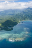 Aerial of the Island of Upolu, Samoa, South Pacific, Pacific Photographic Print by Michael Runkel