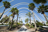 L'Umbracle (Landscaped Walk) at the City of Arts and Sciences (Ciudad De Las Artes Y Las Ciencias) Photographic Print by Lee Frost