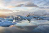 Winter Sunset over Jokulsarlon Photographic Print by Lee Frost