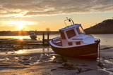 The Aln Estuary During a Stunning Winter Sunrise from the Beach at Low Tide Photographic Print by Lee Frost