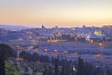 Neil Farrin - View of Jerusalem from the Mount of Olives, Jerusalem, Israel, Middle East - Fotografik Baskı