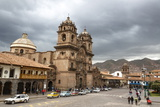 View over Iglesia De La Compania De Jesus Church and La Merced Church, Cuzco, Peru, South America Photographic Print by Yadid Levy