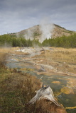 Midway Geyser Basin Thermal Activity from the Fairy Creek Trail, Yellowstone National Park, Wyoming Photographic Print by Eleanor Scriven