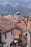Elevated View of Red Roof Tiles and the Domes of the Church of St. Nicholas, Kotor, Montenegro Photographic Print by Eleanor Scriven