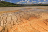 Grand Prismatic Spring with a View Towards Twin Buttes Photographic Print by Eleanor Scriven