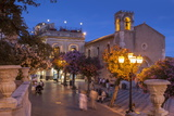 Main Square at Dusk, Taormina, Sicily, Italy, Europe Photographic Print by John Miller