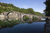 Medieval Bridge of Ponte Della Maddalena on the River Serchio, Borgo a Mozzano, Near Lucca Photographic Print by Stuart Black