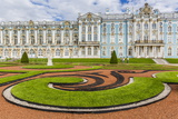 View of the French-Style Formal Gardens at the Catherine Palace, Tsarskoe Selo, St. Petersburg Photographic Print by Michael Nolan