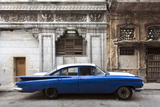 Vintage American Car Parked on a Street in Havana Centro, Havana, Cuba Photographic Print by Lee Frost