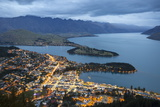 View over Queenstown with Lake Wakatipu and the Remarkables, Queenstown, Otago Photographic Print by Stuart Black