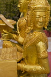 Gold Statue in Wat Krom Temple, Sihanoukville Port, Sihanouk Province, Cambodia, Indochina Photographic Print by Richard Cummins