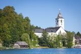 Parish Church, St. Wolfgang, Wolfgangsee Lake, Flachgau, Salzburg, Upper Austria, Austria, Europe Photographic Print by Doug Pearson