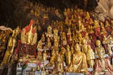 Shwe Umin Pagoda Paya, Buddha Images Inside the Limestone Gold Buddha Caves, Pindaya Photographic Print by Stephen Studd